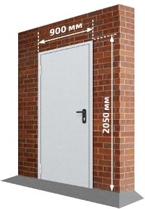 Однопольная дверь