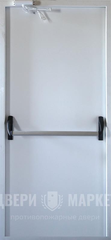 противопожарная дверь с системой антипаника пуш бар дпм 0160 Ei 60 011
