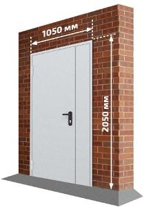 Дверь с боковой вставкой