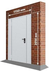 Дверь с двумя боковыми вставками